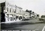 East side of Courthouse Square in 1950's
